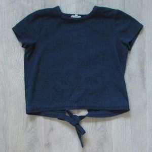 Madewell Navy Blue Tie Back Top Size Small
